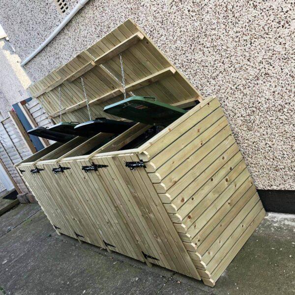 quad wheelie bin