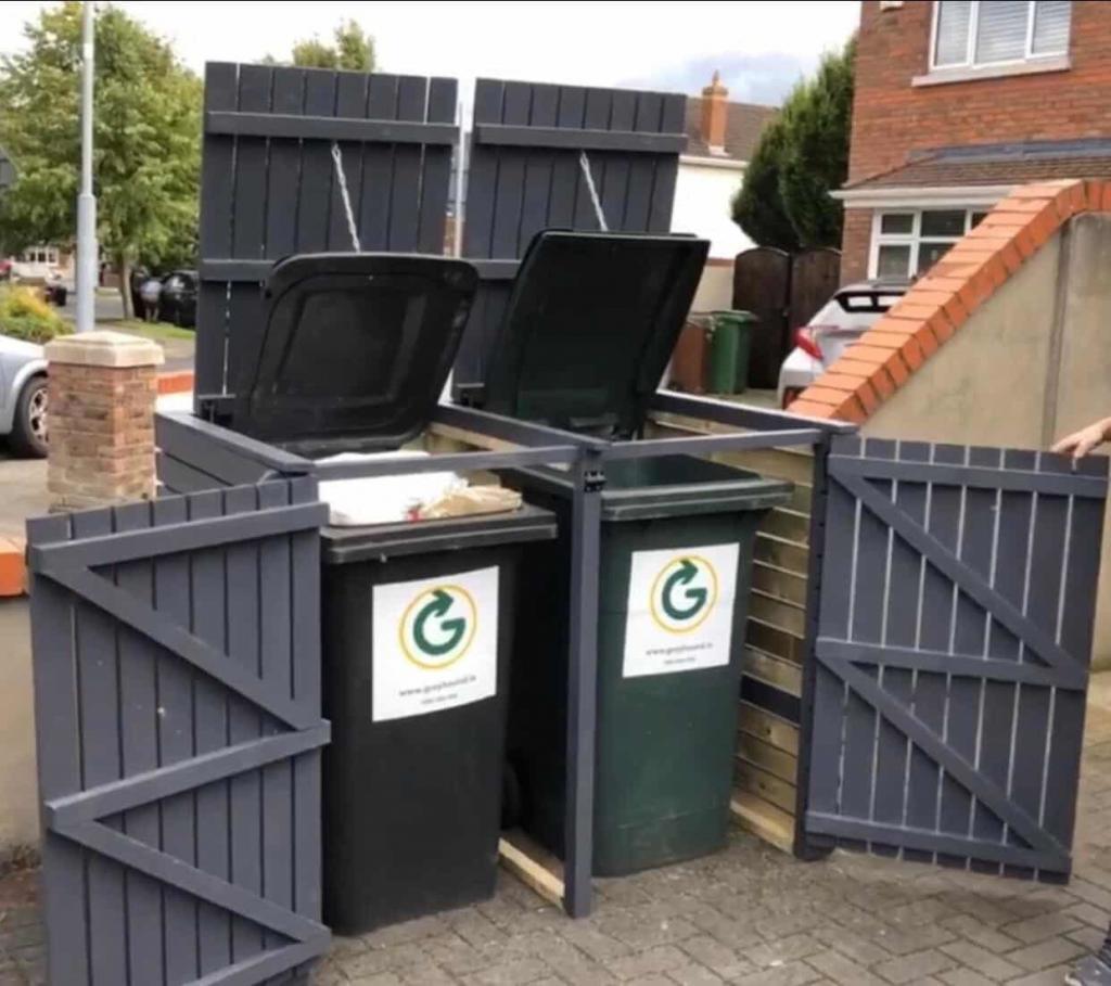 wheelie bin storage sheds