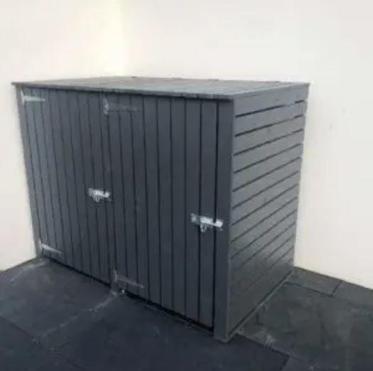double wheelie bin storage wbsireland ireland wheeliebinstorage