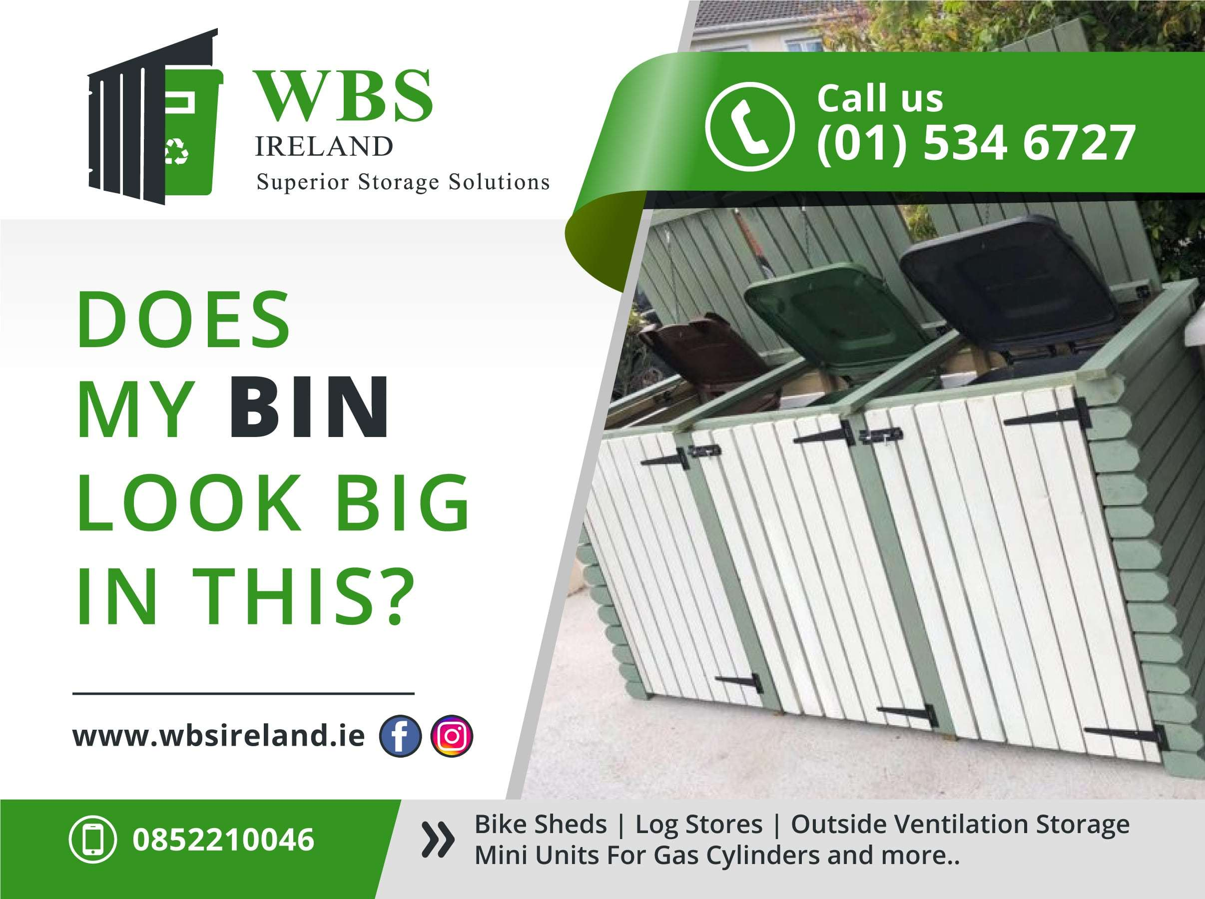 wheelie bin storage ireland wbsireland.ie